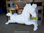 Gloss white horse, great for home decor decorating.